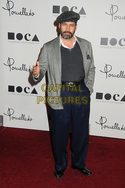 Billy Zane.Pomellato Celebrates Rodeo Drive Boutique Opening Hosted By Tilda Swinton, Benefiting MOCA held at Pomellato Boutique, Beverly Hills, California, USA..January 30th, 2012.full length jacket top jumper sweater trousers high waist hand black grey gray beard facial hair hat cap.CAP/ADM/BP.©Byron Purvis/AdMedia/Capital Pictures.