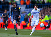 Leeds United's Jack Harrison gets away from Sheffield Wednesday's Adam Reach<br /> <br /> Photographer Alex Dodd/CameraSport<br /> <br /> The EFL Sky Bet Championship - Leeds United v Sheffield Wednesday - Saturday 13th April 2019 - Elland Road - Leeds<br /> <br /> World Copyright © 2019 CameraSport. All rights reserved. 43 Linden Ave. Countesthorpe. Leicester. England. LE8 5PG - Tel: +44 (0) 116 277 4147 - admin@camerasport.com - www.camerasport.com