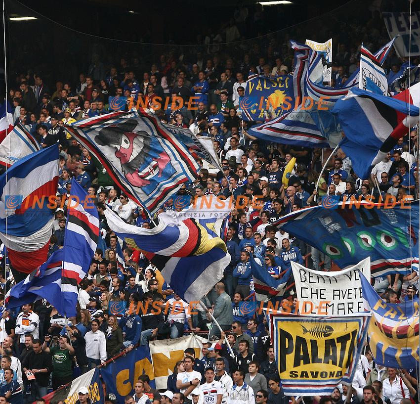 Sampdoria fans. Tifosi della Sampdoria<br /> Italian &quot;Serie A&quot; 2006-2007<br /> 14 Oct 2006 (match day 6)<br /> Sampdoria - Milan (1-1)<br /> &quot;Luigi Ferraris&quot; Stadium - Genova - Italy<br /> Photographer: Andrea Staccioli Inside