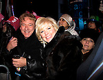Ken Lundie & Missy Keene outside in Times Square after the Stars of Broadway 2015 New Year's Eve Times Square Ball Drop on December 31, 2014 at the Copacabana, New York City, New York.  (Photo by Sue Coflin/Max Photos)