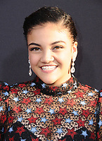 """11 July 2017 - Hollywood, California - Laurie Hernandez. Disney's """"Descendants 2"""" Los Angeles Premiere held at the ArcLight Cinerama Dome in Hollywood. Photo Credit: Birdie Thompson/AdMedia"""