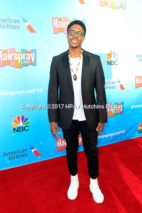 LOS ANGELES - JUN 9:  Ephraim Sykes at the NBC's 'Hairspray Live!' FYC Event at the ATAS Saban Media Center on June 9, 2017 in North Hollywood, CA