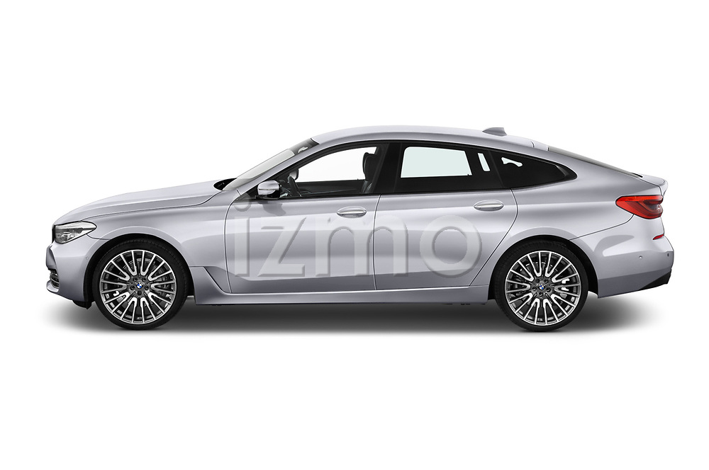 Car driver side profile view of a 2018 BMW 6 series gran turismo Sport 5 Door Hatchback