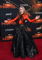 "LOS ANGELES, CA. March 04, 2019: Grimes at the world premiere of ""Captain Marvel"" at the El Capitan Theatre.<br /> Picture: Paul Smith/Featureflash"