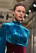 Sunday, 17 February 2013, London, England, UK. Fashion by Yasya Minochkina. Mercedes-Benz Kiev Fashion Days at Fashion Scout at Freemason's Hall during London Fashion Week. Showcase of young Ukranian designers. Photo: Bettina Strenske
