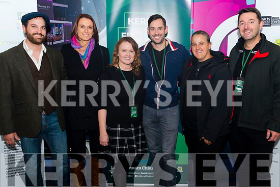 "Opening night of Kerry Film Festival in the Killarney Cinema last Thursday night. Pictured are l-r Mark Christopher Covino (Director of ""The Crest""), Michelle Sullivan (co-producer of ""Man of Straw""), Maeve McGrath (Artistic Director of Kerry Film Festival), Matt Sullivan (director of ""Man of Straw""), Giorgia Pantazopoulos (Director of Photography ""The Crest"") and Dave Schulz (Producer of ""The Crest"")."