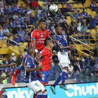 BOGOTÁ- COLOMBIA,15-09-2019:Acción de juego entre Millonarios y  Deportivo Pasto durante partido por la fecha 11 de la Liga Águila II 2019 jugado en el estadio Nemesio Camacho El Campín de la ciudad de Bogotá. /Action game between Millonarios and Deportivo Pasto during the  match for the date 11 of the Liga Aguila II 2019 played at the Nemesio Camacho El Campin stadium in Bogota city. Photo: VizzorImage / Felipe Caicedo / Staff