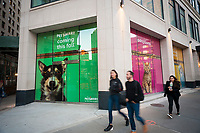 The future home of a Petsmart pet supply store in the Flatiron neighborhood of New York on Tuesday, April 18, 2017. Petsmart has agreed to acquire the e-commerce retailer Chewy.com for an undisclosed sum. The acquisition increases brick-and-mortar Petsmart's online presence.  (© Richard B. Levine)