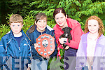Michael, Hogan, Alice Culloty, Liz Buckley and Emer O'Dowd with Susie who won a prize at the Mongrel dog show in Coolwood Killarney on Sunday