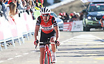Richie Porte (AUS) Trek-Segafredo crosses the finish line at the end of Stage 4 of the Volta Ciclista a Catalunya 2019 running 150.3km from Llanars (Vall De Camprodon) to La Molina (Alp), Spain. 28th March 2019.<br /> Picture: Colin Flockton | Cyclefile<br /> <br /> <br /> All photos usage must carry mandatory copyright credit (© Cyclefile | Colin Flockton)
