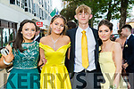 Niamh Lynch, Líadan Quinn Favier, Ko Kallewaard and Elinor Dennison, pictured at Pobalscoil Inbhear Scéine, Kenmare Debs, held at the Brandon Hotel, Tralee, on Friday night last.