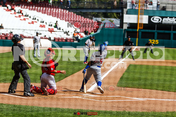 Yermin Mercedes en su turno al bat por Dominicana, durante el partido de beisbol de la Serie del Caribe entre Republica Dominicana vs Puerto Rico en el Nuevo Estadio de los Tomateros en Culiacan, Mexico, Sabado 4 Feb 2017. Foto: Luis Gutierrez/NortePhoto.com<br /> <br /> Actions, during the Caribbean Series baseball match between Dominican Republic vs Puerto Rico at the New Tomateros Stadium in Culiacan, Mexico, Saturday 4 Feb 2017. Photo: Luis Gutierrez / NortePhoto.com