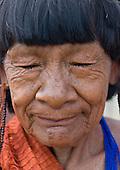 Pará State, Brazil. Aldeia Ipixuna (Araweté). Elder Ypatxitxihe Araweté.