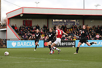 Vivianne Miedema of Arsenal scores the eighth goal for her team during Arsenal Women vs Bristol City Women, Barclays FA Women's Super League Football at Meadow Park on 1st December 2019