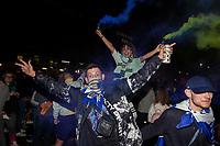 Leeds United fans react outside Elland Road<br /> <br /> Photographer Alex Dodd/CameraSport<br /> <br /> The EFL Sky Bet Championship - Leeds United v Charlton Athletic - Wednesday July 22nd 2020 - Elland Road - Leeds <br /> <br /> World Copyright © 2020 CameraSport. All rights reserved. 43 Linden Ave. Countesthorpe. Leicester. England. LE8 5PG - Tel: +44 (0) 116 277 4147 - admin@camerasport.com - www.camerasport.com