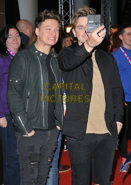 Conor Maynard and guest at the Capital FM Jingle Bell Ball, The London O2 Arena, Peninsula Square, London, England, UK, on Saturday 03 December 2016. <br /> CAP/CAN<br /> &copy;CAN/Capital Pictures