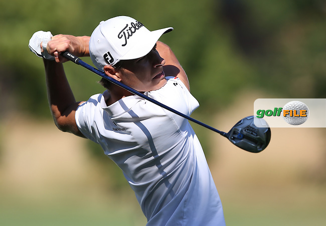 Joakim Lagergren (SWE) plays down the 4th during Round Three of the Tshwane Open 2015 at the Pretoria Country Club, Waterkloof, Pretoria, South Africa. Picture:  David Lloyd / www.golffile.ie. 14/03/2015