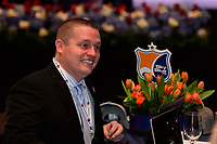 Philadelphia, PA - Thursday January 18, 2018: John Archibald during the 2018 NWSL College Draft at the Pennsylvania Convention Center.