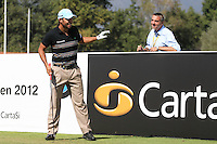 Pablo Larrazabal (ESP) with Marco Kaussler BMW during day 3 of the BMW Italian Open presented by CartaSi, at Royal Park I Roveri,Turin,Italy..Picture: Fran Caffrey/www.golffile.ie.