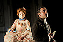 "London, UK. 19/05/2011.  ""School for Scandal"" opens at the Barbican. Katherine Parkinson as Lady Teazle and Aidan McArdle as Joseph Surface. Photo credit should read Jane Hobson"