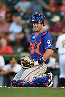 St. Lucie Mets catcher Jeff Glenn (24) during a game against the Bradenton Marauders on April 11, 2015 at McKechnie Field in Bradenton, Florida.  St. Lucie defeated Bradenton 3-2.  (Mike Janes/Four Seam Images)