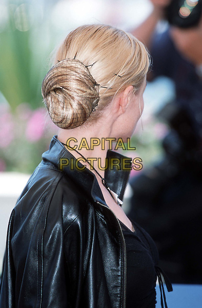 EMMANUELLE BEART..Cannes, 2001..Ref: 10854..headshot, portrait, hair bun..www.capitalpictures.com..sales@capitalpictures.com..©Capital Pictures