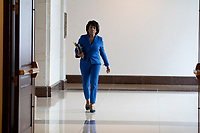 Representative Maxine Waters, Democrat of California, walks through the basement of the United States Capitol on June 13, 2018. Credit: Alex Edelman / CNP /MediaPunch