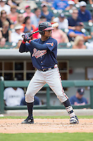 Christian Bethancourt (38) of the Gwinnett Braves at bat against the Charlotte Knights at BB&T BallPark on July 3, 2015 in Charlotte, North Carolina.  The Braves defeated the Knights 11-4 in game one of a day-night double header.  (Brian Westerholt/Four Seam Images)