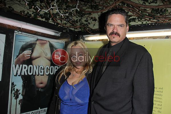 "Jennifer Blanc, Mark Burnham<br /> at the ""Wrong Cops"" Opening Week Screening, Cinefamily Silent Movie Theater, Los Angeles, CA 12-27-13<br /> David Edwards/DailyCeleb.Com 818-249-4998"