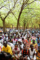 BURKINA FASO , Koudougou, catholic cathedral, holy mass on sunday / Kathedrale, heilige Messe am Sonntag