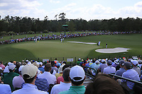Tiger Woods (USA) on the 17th during the 1st round at the The Masters , Augusta National, Augusta, Georgia, USA. 11/04/2019.<br /> Picture Fran Caffrey / Golffile.ie<br /> <br /> All photo usage must carry mandatory copyright credit (&copy; Golffile | Fran Caffrey)