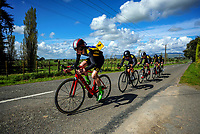 Christchurch BHS senior A u20 boys in action during the NZ Schools Road Cycling championship day one team time trials at Koputaroa Road near Levin, New Zealand on Saturday, 30 September 2017. Photo: Dave Lintott / lintottphoto.co.nz