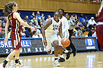 27 January 2013: Duke's Chelsea Gray (12). The Duke University Blue Devils played the Boston College Eagles at Cameron Indoor Stadium in Durham, North Carolina in an NCAA Division I Women's Basketball game. Duke won the game 80-56.