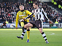ST MIRREN'S LEE MAIR GETS TO THE BALL AHEAD OF CELTIC'S GARY HOOPER.