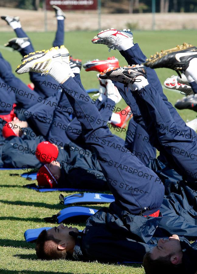 Fudbal.pripreme za prolecnu sezonu.Crvena Zvezda.Practice session, Vujadin Savic.Antalya, 03.02.2010..foto: Srdjan Stevanovic©