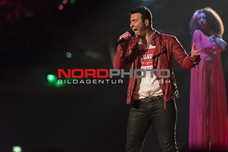16.05.2015, &Ouml;VB-Arena, Bremen, GER, DSDS Finale Bremen , im Bild<br /> <br /> #Antonio Geradi (30 - You Give Me Something &ndash; James Morrison)<br /> <br /> <br /> Foto &copy; nordphoto / Kokenge