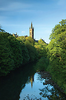 Glasgow University and the River Kelvin, Kelvingrove Park, Glasgow<br /> <br /> Copyright www.scottishhorizons.co.uk/Keith Fergus 2011 All Rights Reserved