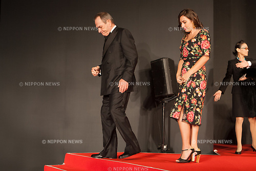 Members of the International Competition Jury, Victoria Jones, Tommy Lee Jones, appears on the opening red carpet for The 30th Tokyo International Film Festival in Roppongi on October 25th, 2017, in Tokyo, Japan. The festival runs from October 25th to November 3rd at venues in Tokyo. (Photo by Michael Steinebach/AFLO)