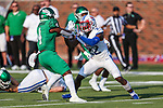Southern Methodist Mustangs defensive end Tyeson Neals (22) in action during the game between the UNT Mean Green and the SMU Mustangs at the Gerald J. Ford Stadium in Fort Worth, Texas.