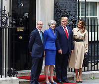 Philip May, British Prime Minister Theresa May, US President Donald Trump and First Lady Melania Trump outside No 10 Downing Street on the second day of the State Visit to the UK. June 4th 2019<br /> CAP/ROS<br /> ©ROS/Capital Pictures