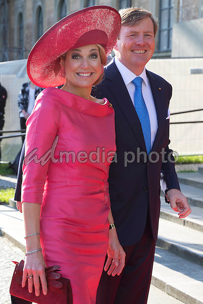 13 April 2016 - Munich, Germany - State visit of the Dutch Royal couple King Willem-Alexander and Queen Maxima in Munich, Germany. Queen Maxima and King Willem-Alexander visiting the BMW/Mini Group. Photo Credit: PPE/face to face/AdMedia