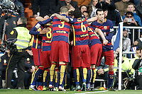 FC Barcelona's players celebrate goal during La Liga match. November 21,2015. (ALTERPHOTOS/Acero) /NortePhoto