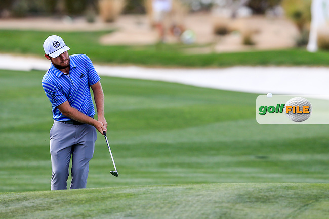 Tyrrell Hatton (ENG) during the pro-am round of the Waste Management Phoenix Open, TPC Scottsdale, Scottsdale, Arisona, USA. 31/01/2019.<br /> Picture Fran Caffrey / Golffile.ie<br /> <br /> All photo usage must carry mandatory copyright credit (&copy; Golffile | Fran Caffrey)
