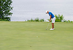 MUSCLE SHOALS, AL - MAY 25: West Florida's Chandler Blanchet putts on the 18th green during the Division II Men's Team Match Play Golf Championship held at the Robert Trent Jones Golf Trail at the Shoals, Fighting Joe Course on May 25, 2018 in Muscle Shoals, Alabama. Lynn defeated West Florida 3-2 to win the national title. (Photo by Cliff Williams/NCAA Photos via Getty Images)
