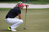 28th May 2017, Ann Arbor, MI, USA;  Suzann Pettersen, of Norway, lines up her put on the ninth green during the final round of the LPGA Volvik Championship on May 28, 2017 at Travis Pointe Country Club in Ann Arbor, Michigan.