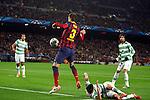 UEFA Champions League 2013/2014.<br /> FC Barcelona vs Celtic FC: 6-1 - Game: 6.<br /> Gerard Pique.