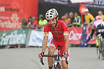 Jesus Herrada (ESP) Cofidis crosses the finish line at the end of Stage 20 of the La Vuelta 2018, running 97.3km from Andorra Escaldes-Engordany to Coll de la Gallina, Spain. 15th September 2018.                   <br /> Picture: Colin Flockton | Cyclefile<br /> <br /> <br /> All photos usage must carry mandatory copyright credit (© Cyclefile | Colin Flockton)