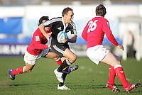 The New Zealand U19 fullback Israel Dagg on the attack during the Division A clash against Wales at Ravenhill. Result New Zealand 37 Wales 14.
