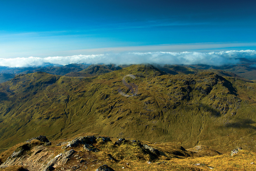 The Munro of Cruach Ardrain from Stob Binnein, Loch Lomond and the Trossachs National Park