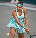 Madison Keys (USA) goes out ahead quickly in the first set against Kateryna Bondarenko (UKR)